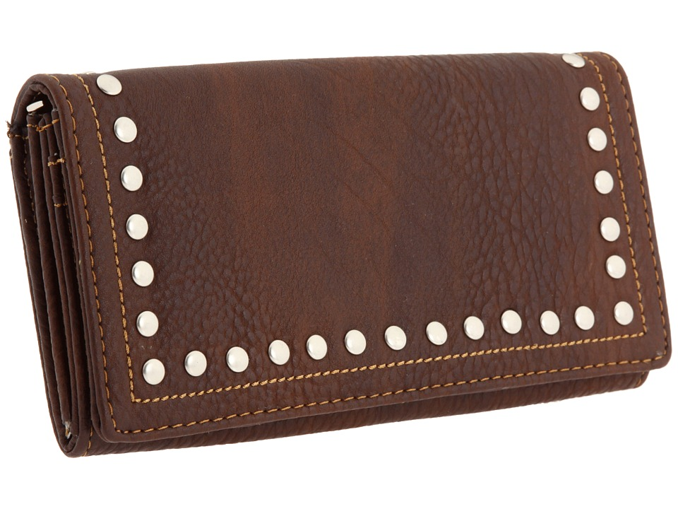 American West - Bandana Flap Wallet (Chocolate) Handbags