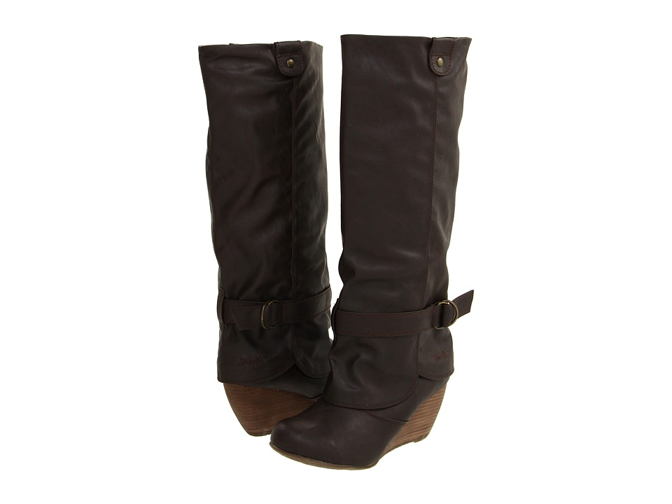 Blowfish - Brandi (Dark Brown Strike PU) Women's Boots
