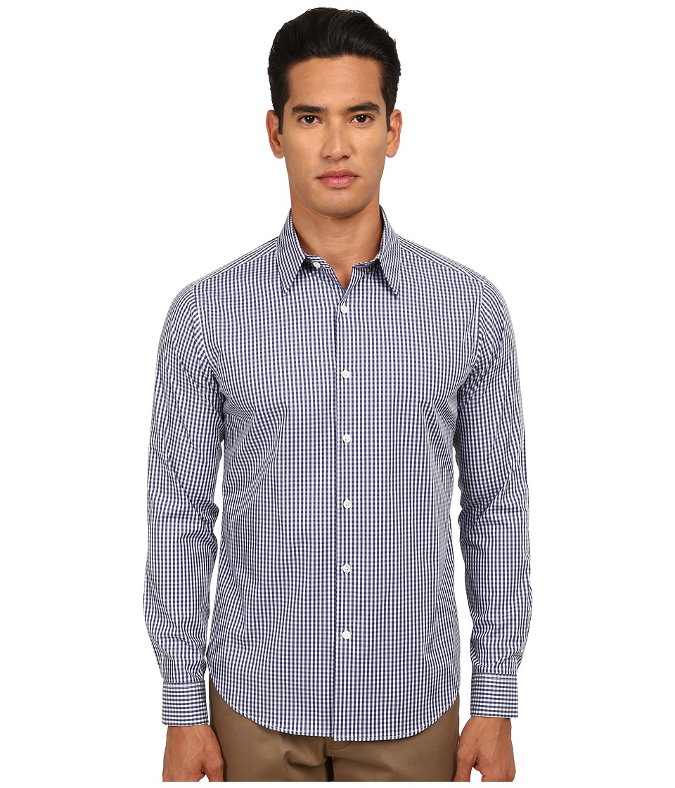 Theory - Sylvain Amicable (Navy Multi) Men's Long Sleeve Button Up