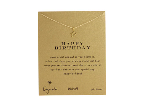 Dogeared - Happy Birthday Reminder Necklace (Gold Dipped) Necklace