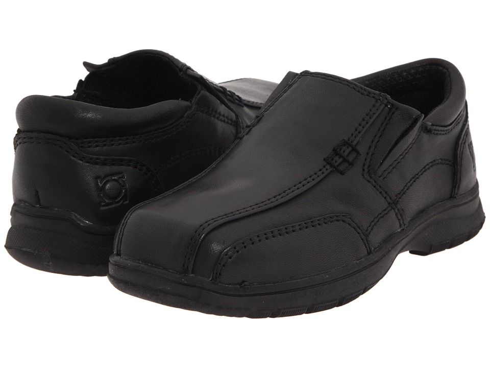 Kenneth Cole Reaction Kids - Check N Check 2 (Toddler/Little Kid) (Black Leather) Boy's Shoes