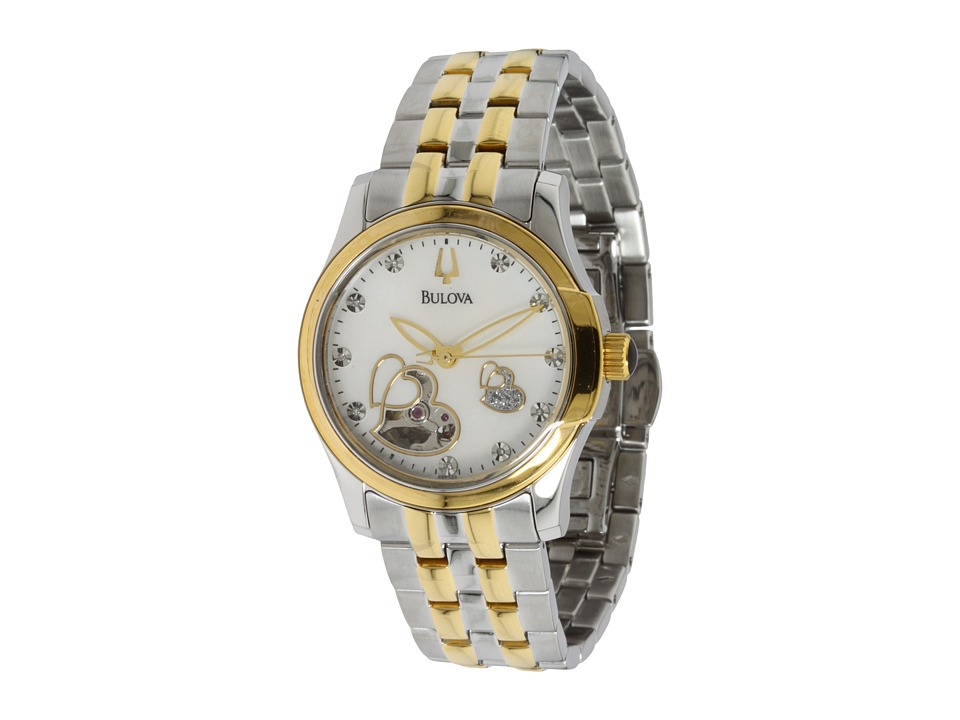Bulova - Ladies - 98P123 (Two Tone Stainless Steel/Gold Steel/Mother of Pearl & Diamonds) Analog Watches