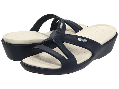6f5b0d5ab3a45c ... UPC 883503713512 product image for Crocs Patricia II (Navy Stucco) Women s  Sandals