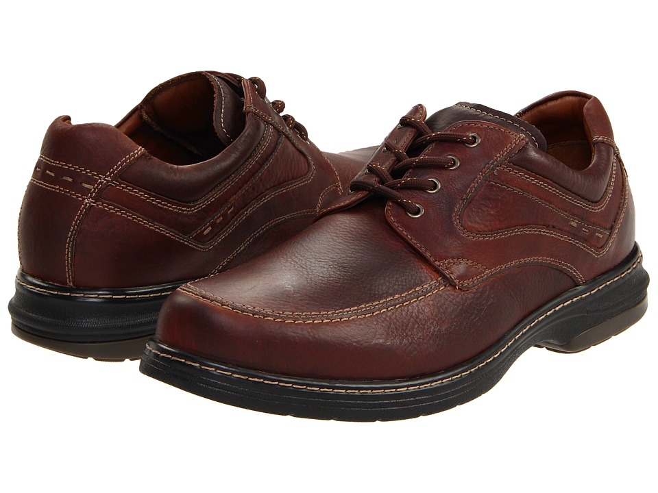 Johnston & Murphy Colvard Moc Toe (Mahogany Waterproof Full-Grain Leather) Men