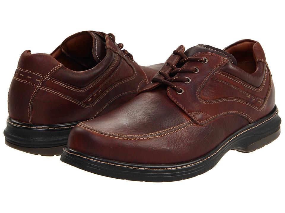 Johnston & Murphy - Colvard Moc Toe (Mahogany Waterproof Full-Grain Leather) Men's Slip on Shoes