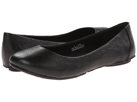 Born - Stowaway II - Crown Collection (Black Leather) Women's Flat Shoes