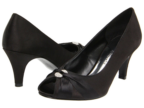 Easy Street - Sunset (Black Satin) High Heels