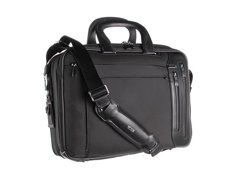 Tumi - Arriv - T-Pass Kennedy Deluxe Brief (Black) Briefcase Bags