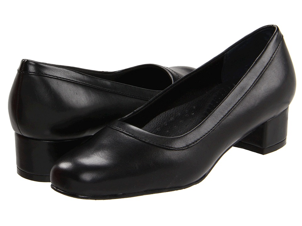 Trotters - Dora (Black Soft Kid Leather/Stretch PU) Women's Slip-on Dress Shoes