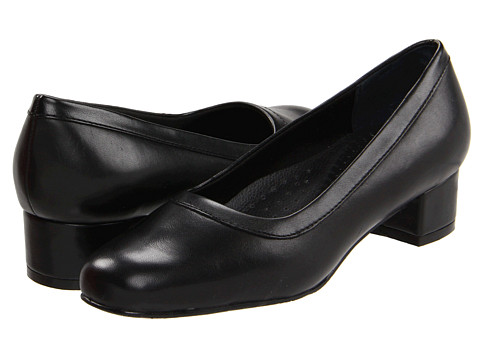 Trotters - Dora (Black Soft Kid Leather/Stretch PU) Women