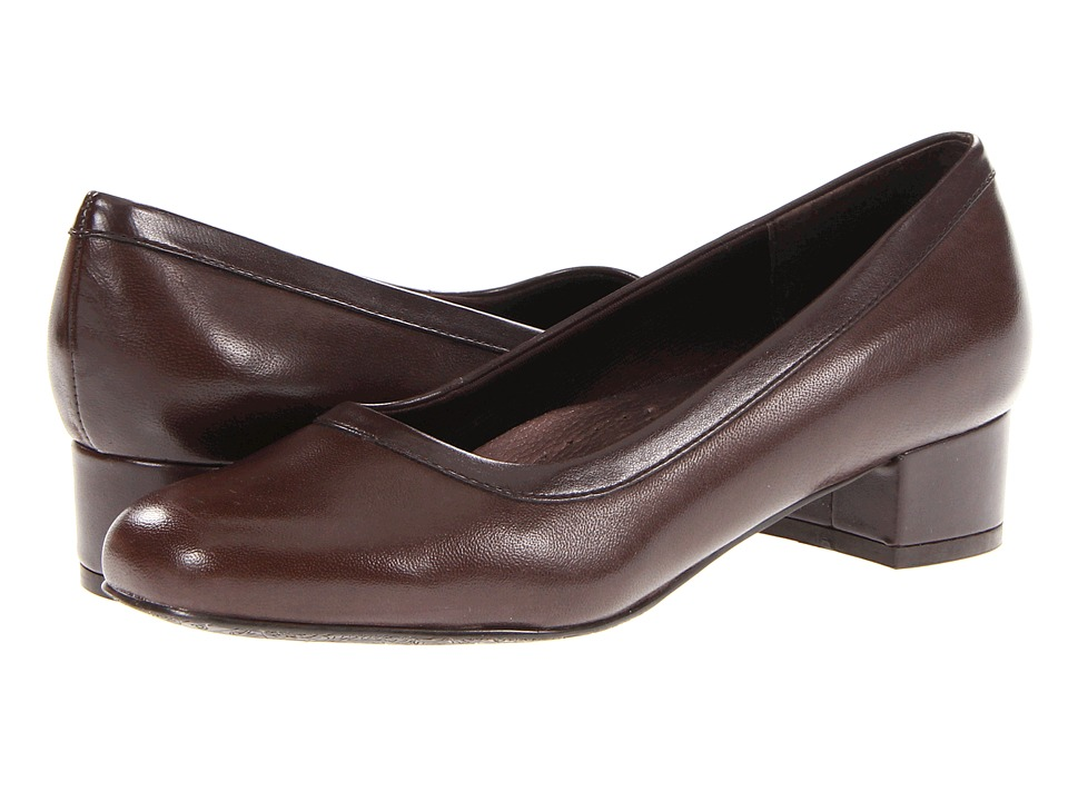 Trotters - Dora (Mocha Soft Kid Leather/Stretch PU) Women's Slip-on Dress Shoes