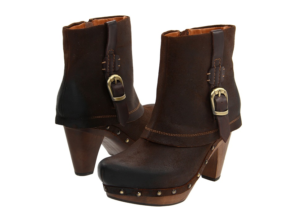 Earthies - Lacerne (Dark Brown Oily Suede) Women