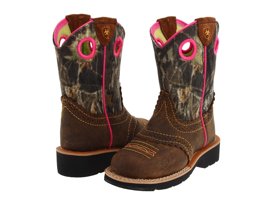 Ariat Kids - Fatbaby Cowgirl (Toddler/Little Kid/Big Kid) (Rough Brown/Mossy Oak) Girl's Shoes