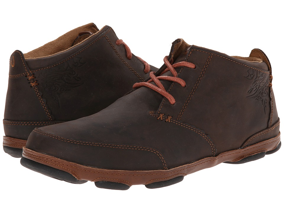 OluKai - Kamuela (Dark Wood/Toffee) Men's Flat Shoes