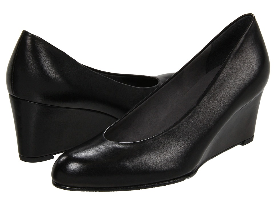 Stuart Weitzman - Ambient (Black Nappa Leather) Women's Wedge Shoes