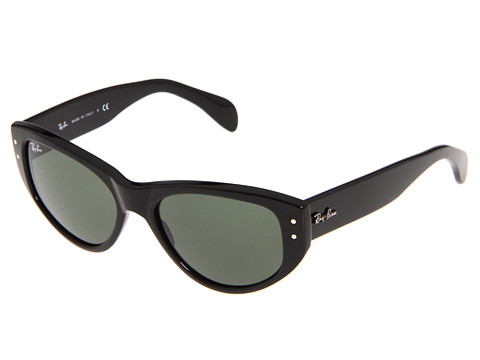Ray-Ban - RB4152 Vagabond (Black/Crystal Green) Fashion Sunglasses