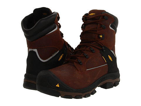 Keen Utility - Portland PR 8 (Dark Brown) Men's Work Lace-up Boots