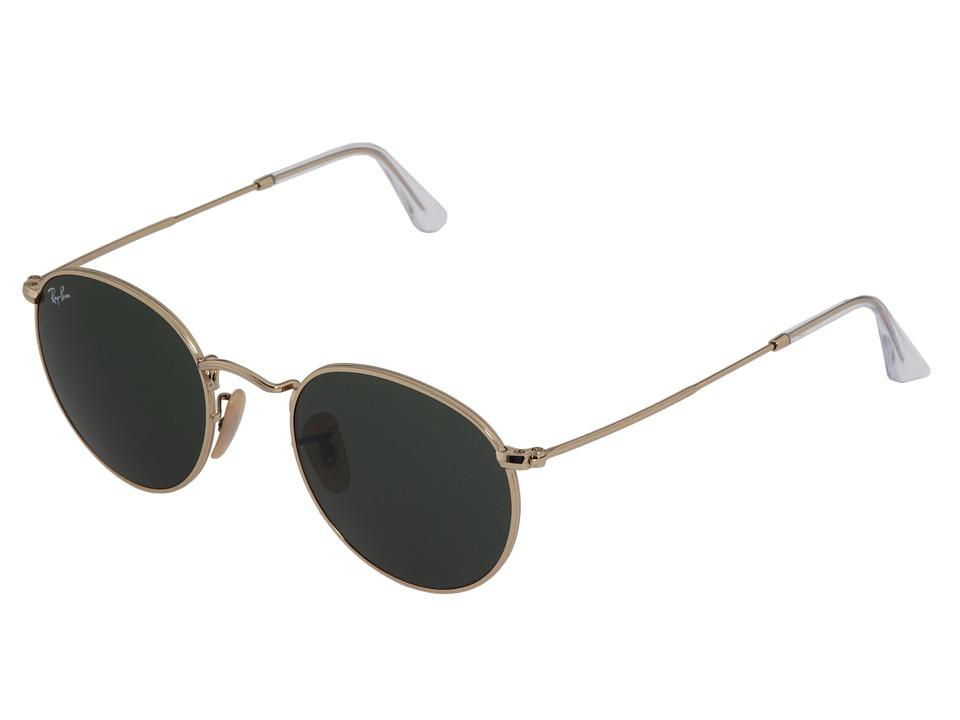 Ray-Ban - RB3447 (Gold/Crystal Green) Metal Frame Fashion Sunglasses
