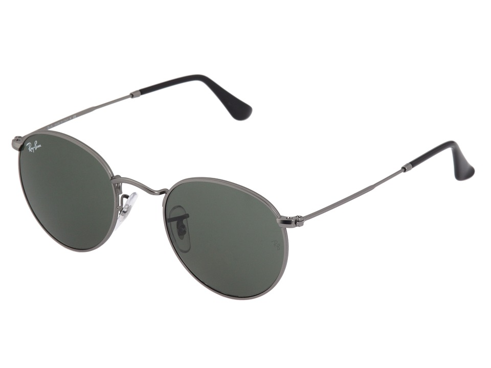 Ray-Ban - RB3447 (Matte Gunmetal/Crystal Green) Metal Frame Fashion Sunglasses