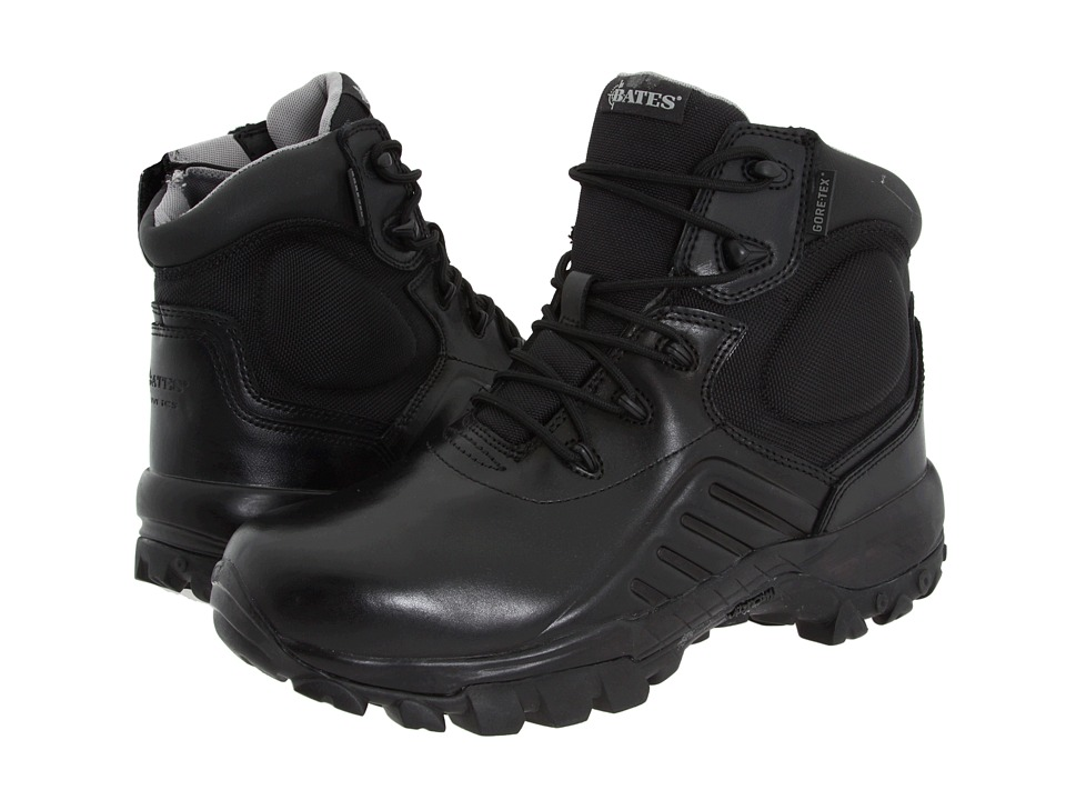 Bates Footwear - Delta-6 Gore-Tex Side Zip (Black) Men's Work Boots