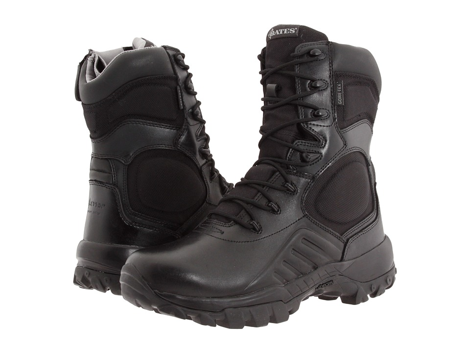 Bates Footwear - Delta-9 GORE-TEX Side Zip (Black) Men's Work Boots