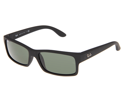 Ray-Ban - RB4151 (Black Rubber/Crystal Green) Plastic Frame Fashion Sunglasses