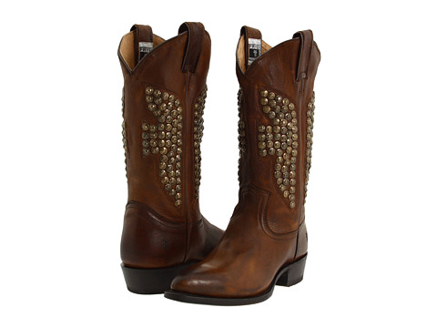 Frye - Billy Hammered Stud (Cognac Soft Vintage Leather) Women's Pull-on Boots