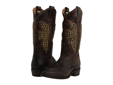 Frye - Billy Hammered Stud (Chocolate Vintage Leather) Women