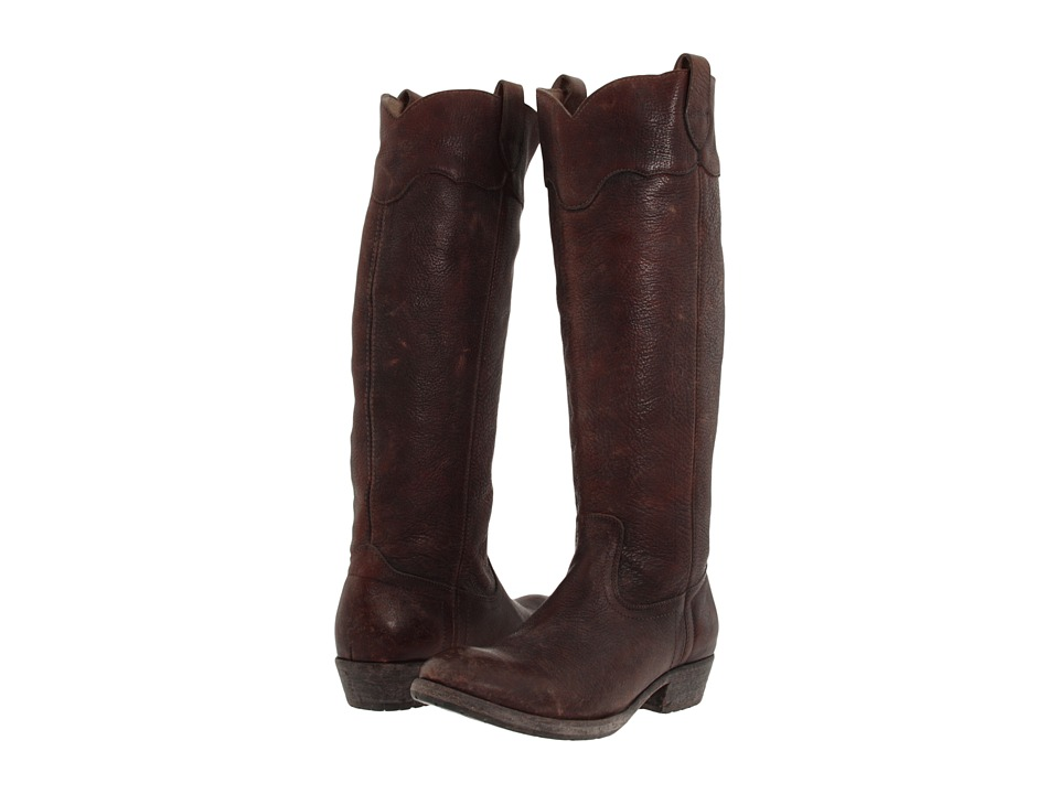 Frye - Carson Lug Riding (Dark Brown Stone Antiqued) Women's Pull-on Boots