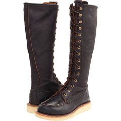 Frye Dakota Wedge Lace Up (Black Burnished Antique Leather) Footwear