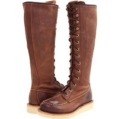 Frye Dakota Wedge Lace Up (Dark Brown Burnished Antique Leather) Footwear