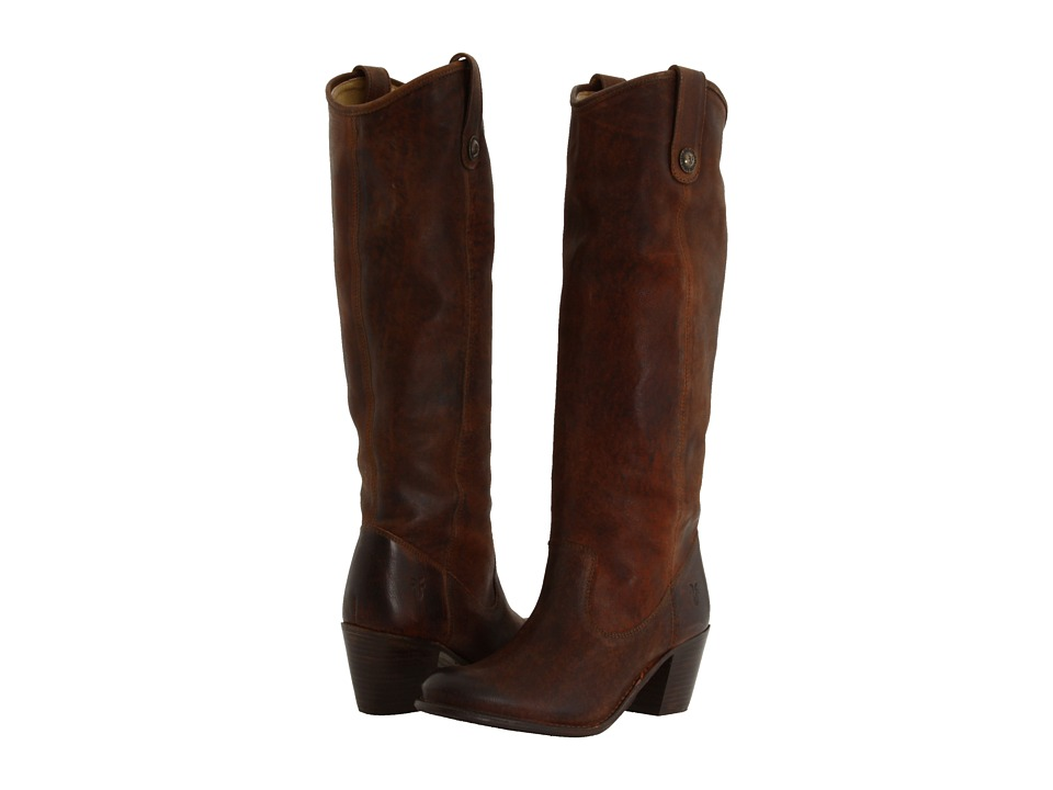 Frye - Jackie Button (Cognac Pressed Nubuck) Women's Dress Pull-on Boots