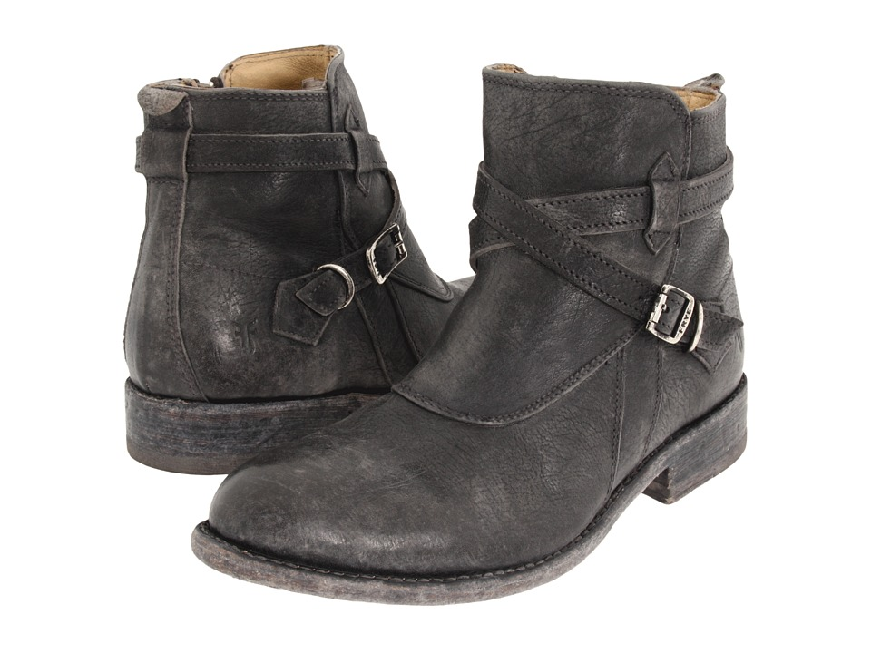 Frye Jayden Cross Strap (Black Stone Antiqued) Women