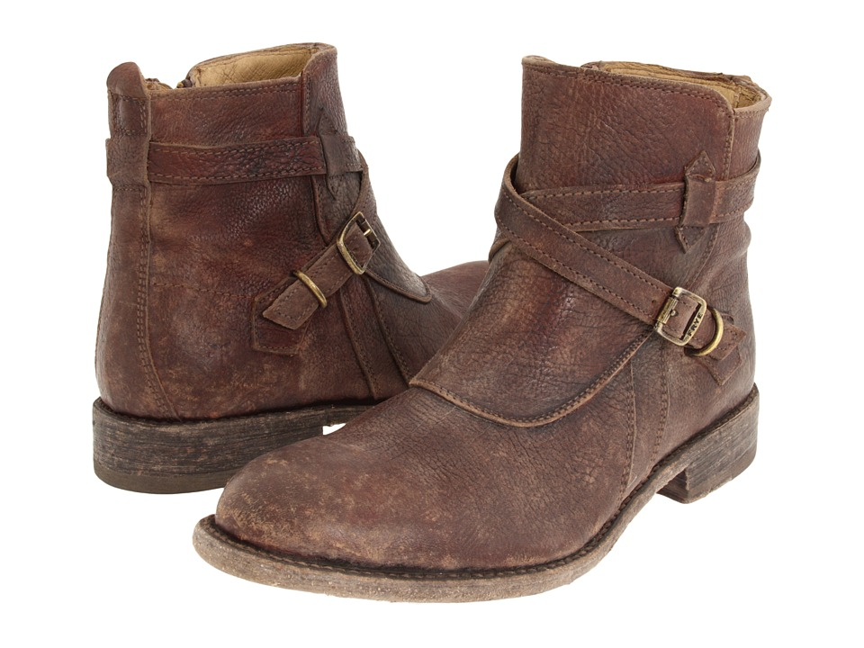 Frye Jayden Cross Strap (Dark Brown Stone Antiqued) Women
