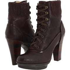 Frye Mimi Lace (Dark Brown Antique Pull Up) Footwear