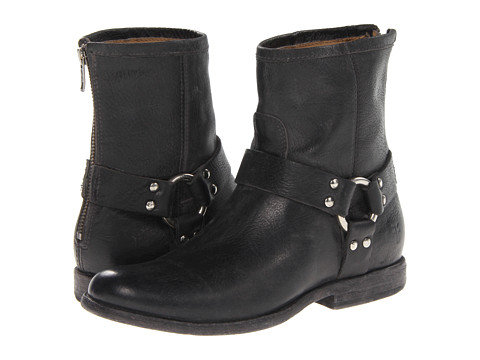 Frye - Phillip Harness (Black Stone Antiqued) Women's Pull-on Boots