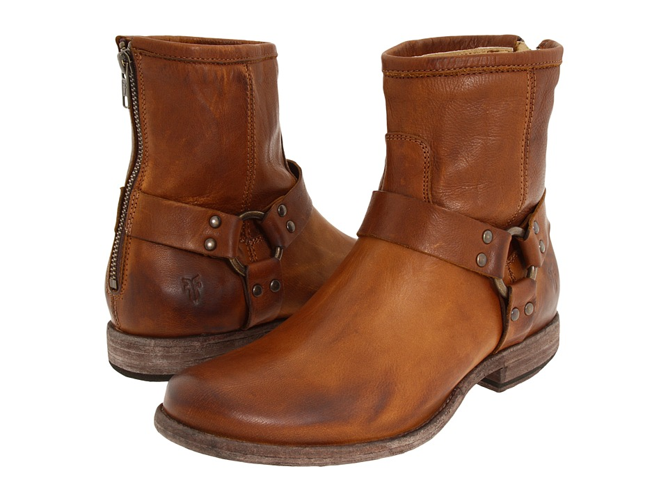 Frye - Phillip Harness (Cognac Soft Vintage Leather) Women's Pull-on Boots