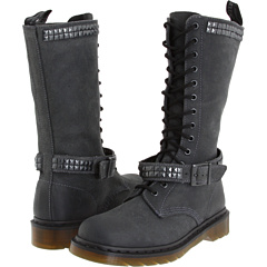 buy Dr. Martens,  Janice Studded (Charcoal Oiled Suede),  Footwear fashion shop