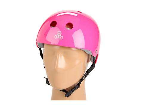 Triple Eight - Brainsaver Multi-Impact Helmet w/ Sweatsaver Liner (Pink Gloss 2) Skateboard Helmet