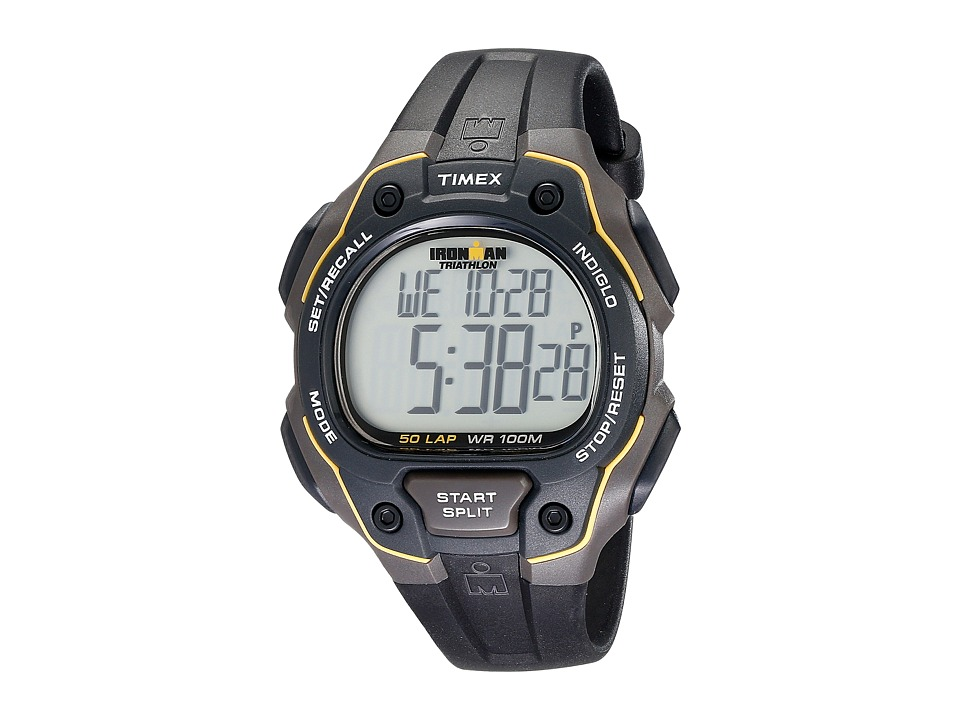 Timex - Ironman(r) Core 50-Lap Full-Size (Black/Yellow Resin) Sport Watches