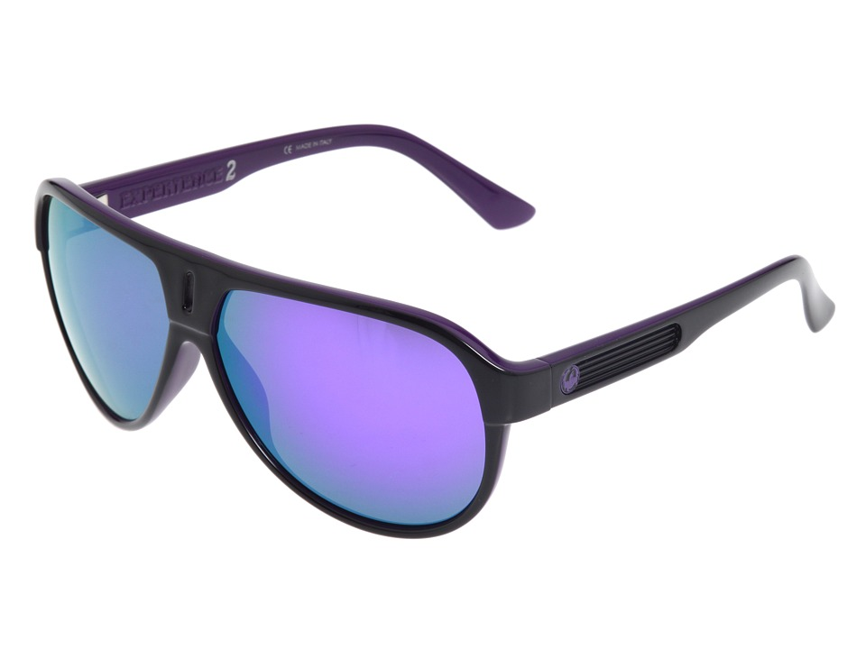 Dragon Alliance - Experience 2 (Jet Purple/Purple Ionized Lens) Plastic Frame Sport Sunglasses