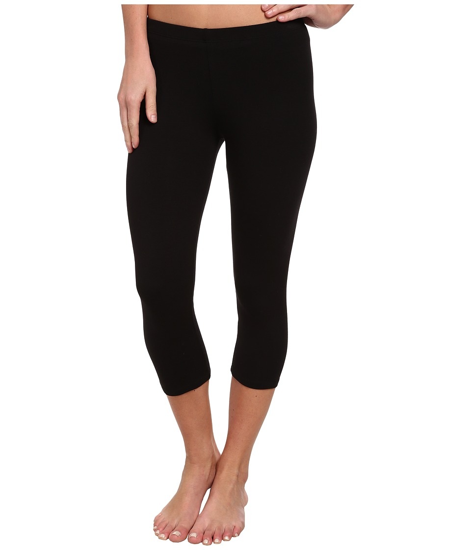 C&C California - 3/4 Length Legging (Black) Women's Casual Pants