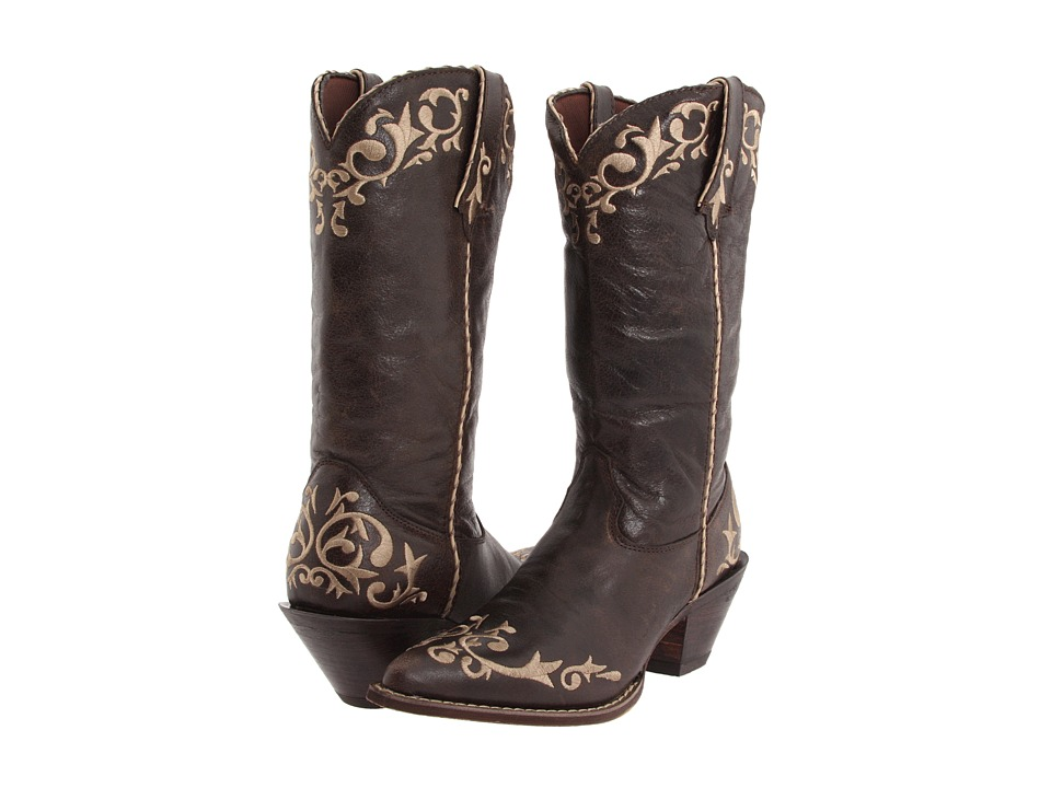 Durango - Crush 12 Embroidered Toe (Chocolate) Cowboy Boots
