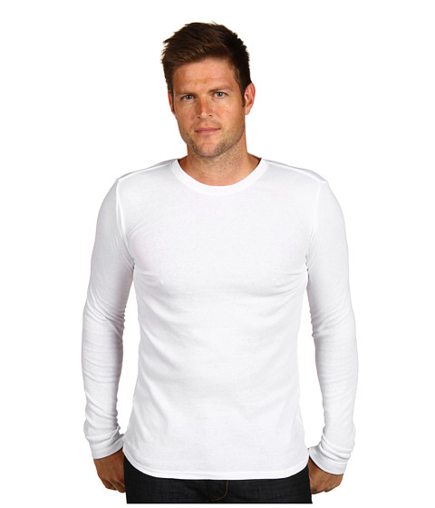 Calvin Klein Underwear - Body L/S Crew Neck PJ Top (White) Men's Long Sleeve Pullover
