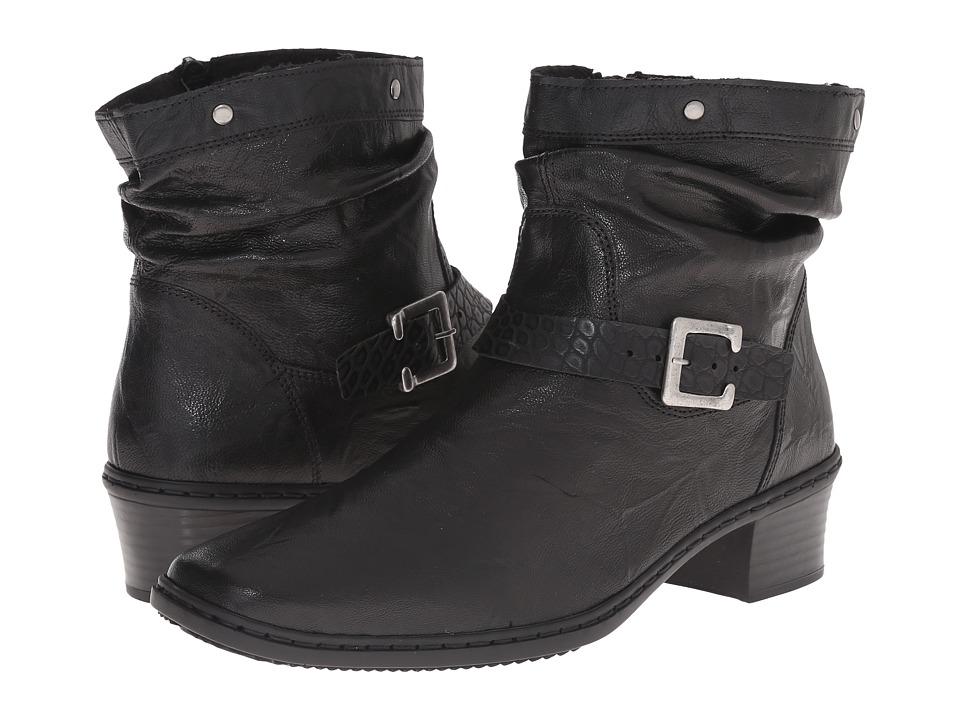 Rieker - 74573 Kendra 73 (Black) Women's Zip Boots