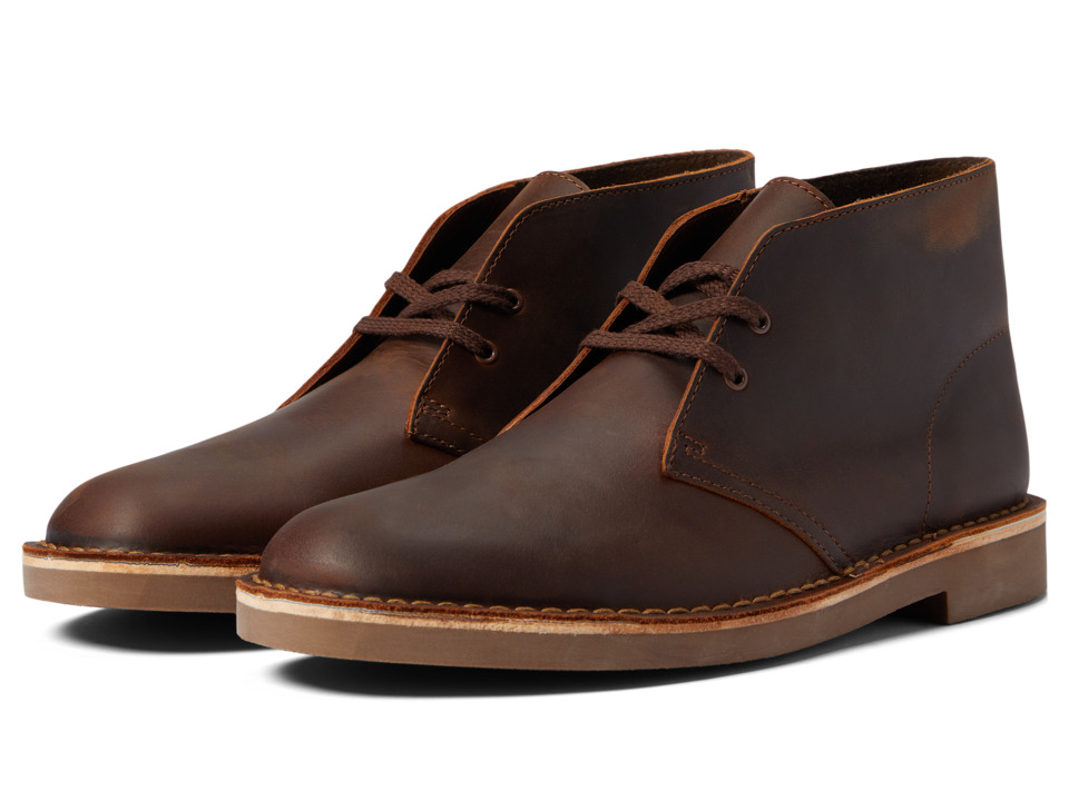 Clarks Bushacre II (Brown Leather) Men