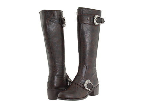 Roper - Knee High Buckle Boot (Brown) Cowboy Boots