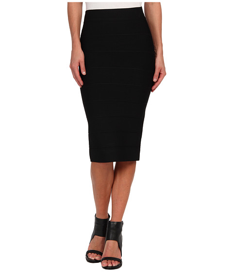 BCBGMAXAZRIA - Lager High Waist Power Skirt (Black) Women's Skirt