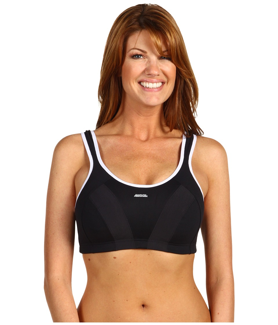 Shock Absorber - Max Sports Bra B4490 (Black/White) Women's Bra