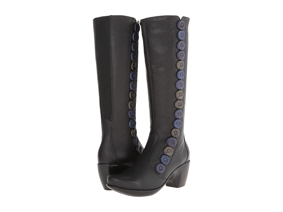 Naot Footwear - Exotic (Jet Black Leather w/Soft Violet Nubuck/Metallic Road Leather/Ind) Women's Boots